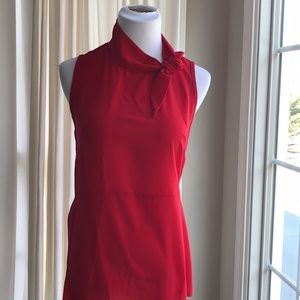 Kim and Cami Size S Sleeveless Tie Neck Top